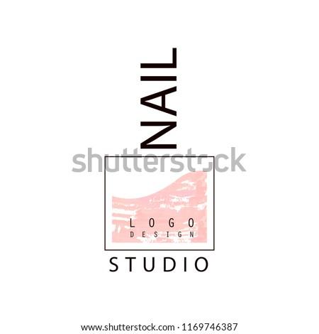 Nail Studio Logo Creative Template Nail Stock Vector Royalty Free