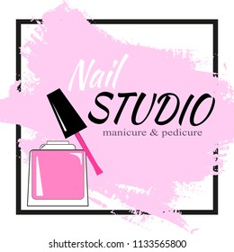 Nail studio logo Vector illustration