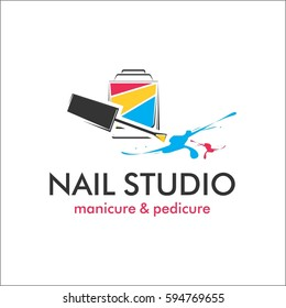 Nail studio template for logo