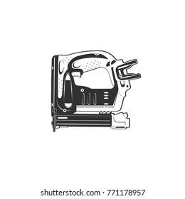 nailer gun nail background vector black