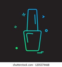 Nailpolish icon design vector