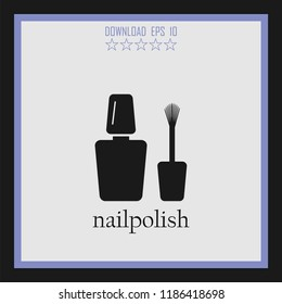nailpolish vector icon
