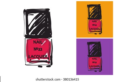 Nailpolish vector image. Vector nailpolish logo. Label with nailpolish.