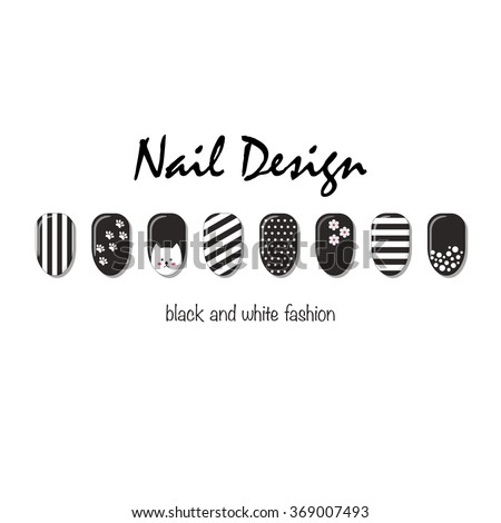 Nails art templates vector layout black stock vector royalty free nails art templates vector layout with black and white nails business card templates cheaphphosting Gallery