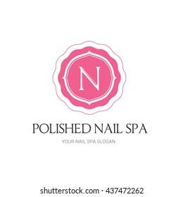 Nails Beauty Spa logo Template