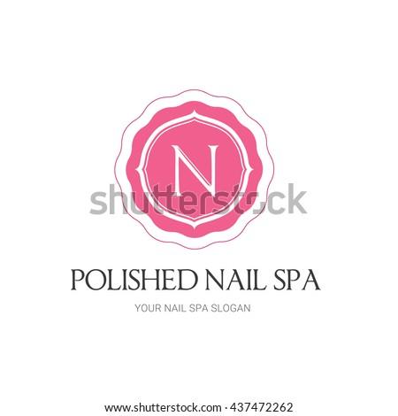 Nails Beauty Spa Logo Template Stock Vector Royalty Free 437472262