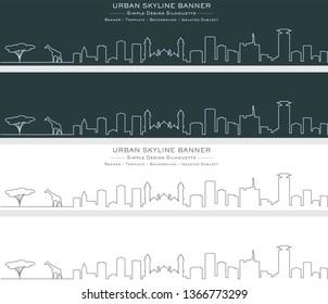 Nairobi Single Line Skyline Banner