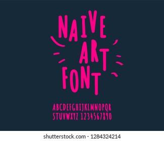 Naive art font set