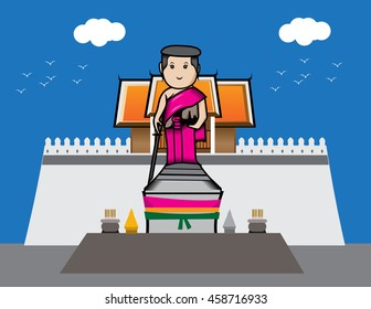 Nakhon Ratchasima Thao Suranaree statue yamo cartoon style