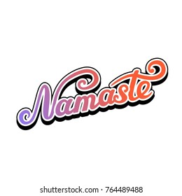 Namaste lettering hello hindi lettering design stock vector hd namaste lettering indian greeting hello in hindi t shirt hand lettered design m4hsunfo