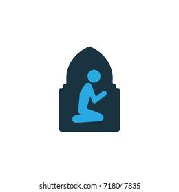 Namaz Room Colorful Icon Symbol. Premium Quality Isolated Praying Element In Trendy Style.