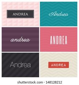 name andrea, graphic design elements