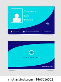name card design. id card template