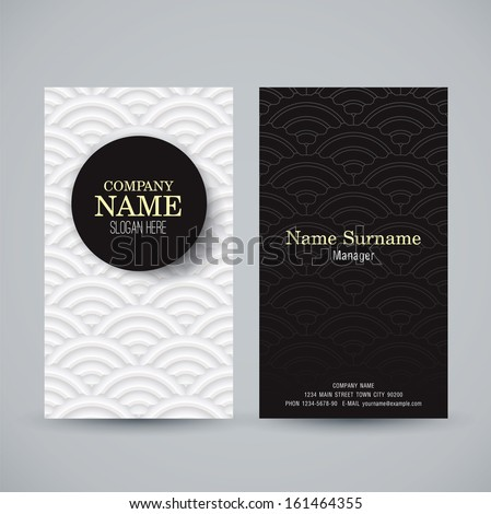 name card design template business card のベクター画像素材