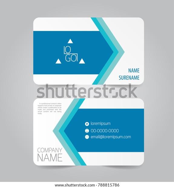 name card template vector design stok vektör telifsiz