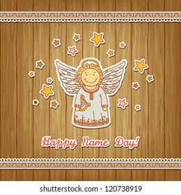 Name Day greeting card with Angel