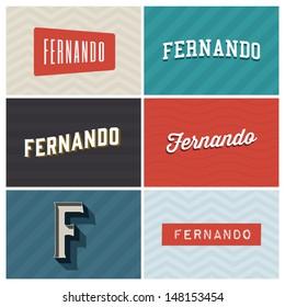 name fernando, graphic design elements