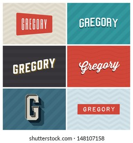 name gregory, graphic design elements