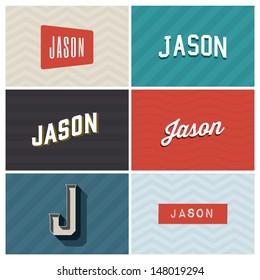 name jason, graphic design elements
