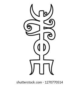Name Odin rune Rune hide the name of Odin galdrastav icon black color
