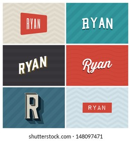 name ryan, graphic design elements