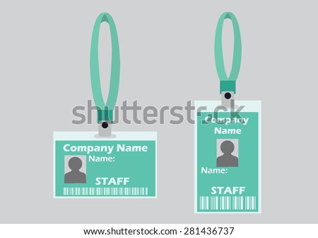 name tag holder badge identification card stock vector royalty free
