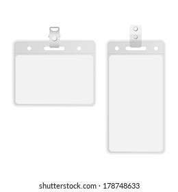 Name tag holder and badge templates vector