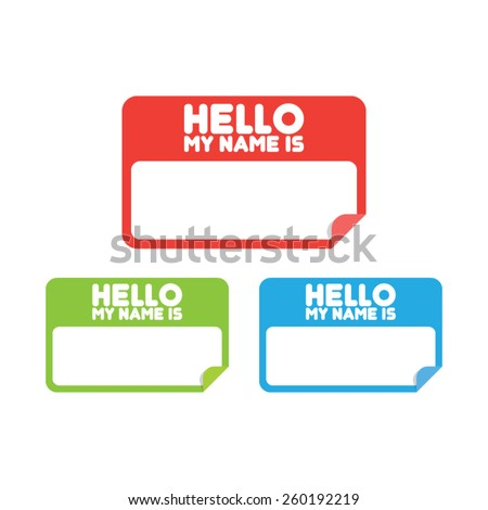 name tag stickers stock vector royalty free 260192219 shutterstock