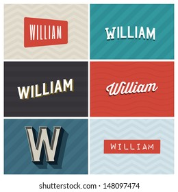 name william, graphic design elements