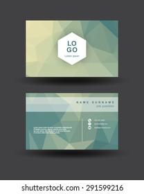 namecard polygon style template