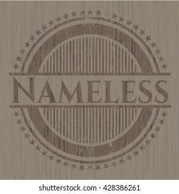 Nameless wood signboards