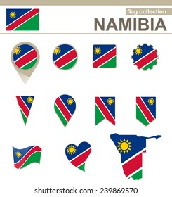 Namibia Flag Collection, 12 versions