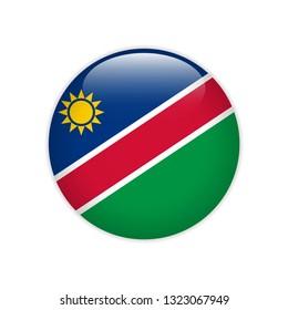 Namibia flag on button