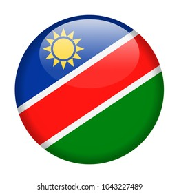 Namibia Flag Vector Round Icon - Illustration