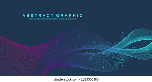 Nano technologies abstract background. Cyber technology concept. Artificial Intelligence, virtual reality, bionics, robotics, global network, microprocessor, nano robots. Vector illustration, banner