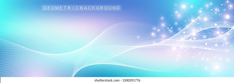 Nano technologies abstract background. Cyber technology concept. Artificial Intelligence, virtual reality bionics robotics global network microprocessor nano robots. Vector illustration, banner.