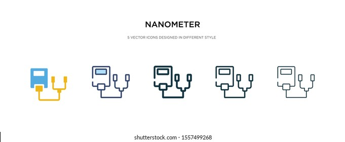 nanometer icon in different style vector illustration. two colored and black nanometer vector icons designed in filled, outline, line and stroke style can be used for web, mobile, ui