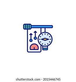 Nanometer icon in vector. Logotype
