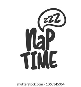 Nap time. Sticker vector for social media post. Hand drawn illustration design. Bubble pop art comics style. Good as poster, t shirt print, card, wallpaper, video or blog cover