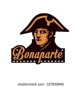 Napoleon Bonaparte. Template of logo.