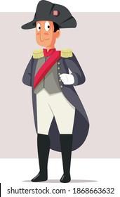 Napoleon Bonaparte Vector Caricature Illustration. Cartoon drawing of famous French emperor