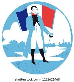Napoleon Bonaparte vector illustration