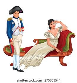 Napoleon and Josephine in her boudoir