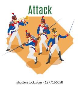 Napoleon's grenadiers isometric background