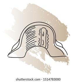 Napoleons hat doodle vector illustration