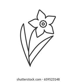 Narcissus jonquil linear icon garden spring stock illustration garden spring flower thin line illustration flowering plant contour mightylinksfo Gallery