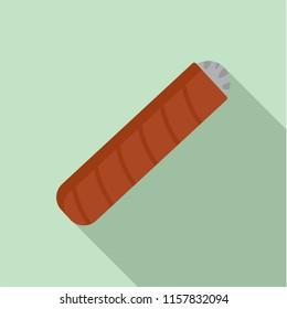 Narcotic cigar of cuba icon. Flat illustration of narcotic cigar of cuba vector icon for web design