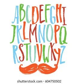 Narrow font Colored set