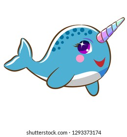narwhal clipart vector