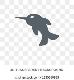 Narwhal icon. Trendy flat vector Narwhal icon on transparent background from Fairy Tale collection. High quality filled Narwhal symbol use for web and mobile